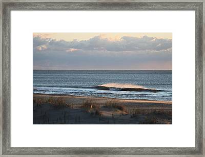Misty Waves Framed Print