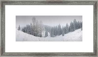 Misty Winter Panorama Framed Print
