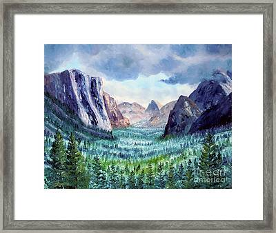 Misty Yosemite Valley Framed Print