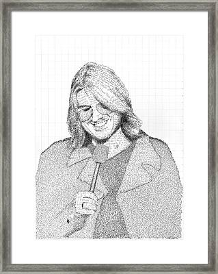 Mitch Hedberg In His Own Jokes Framed Print by Phil Vance