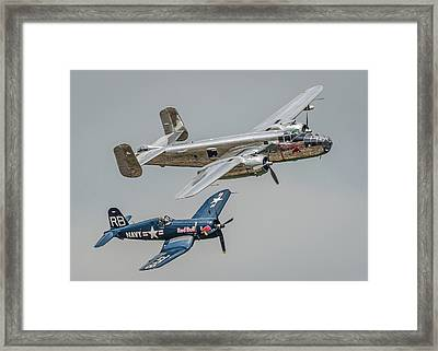 Mitchell And Corsair Pair Framed Print