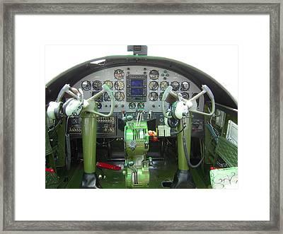 Mitchell B-25 Bomber Cockpit Framed Print by Don Struke