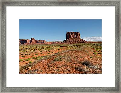 Mitchell Butte In Oljato Monument Valley  Framed Print