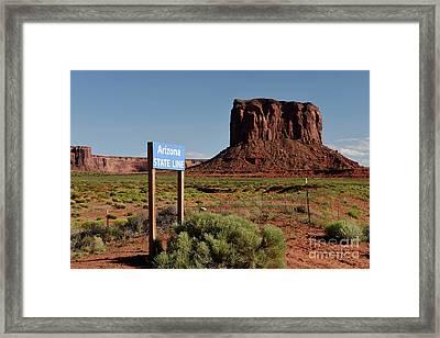 Mitchell Butte Framed Print