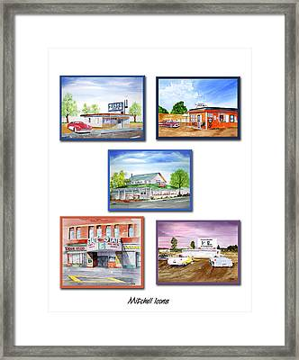 Mitchell Icons Framed Print