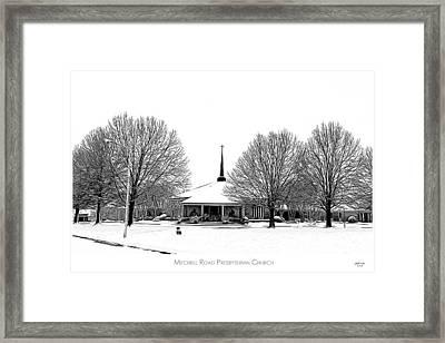 Mitchell Rd Presbyterian Framed Print by Greg Joens