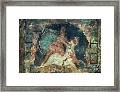 Mithras Killing The Bull Framed Print by Granger