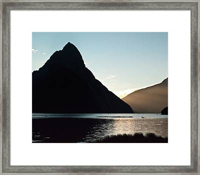 Mitre Peak Milford Sound New Zealand Framed Print by Odille Esmonde-Morgan
