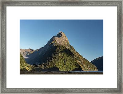 Framed Print featuring the photograph Mitre Peak Rahotu by Gary Eason