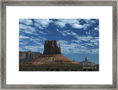 Mitten Under A Perfect Sky Framed Print by Stan and Anne Foster