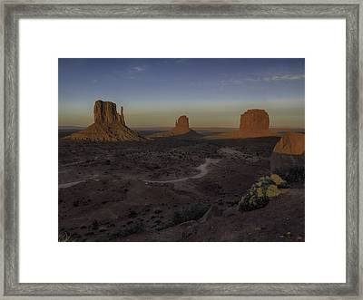 Mittens Morning Greeting Framed Print