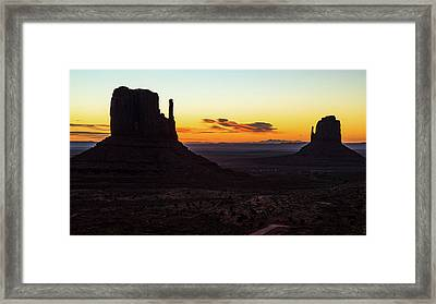 Mittens Sunrise Framed Print by James Marvin Phelps