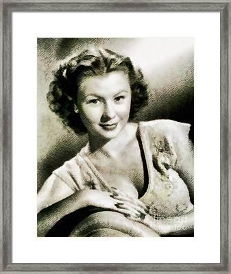 Mitzi Gaynor, Hollywood Legend By John Springfield Framed Print by John Springfield
