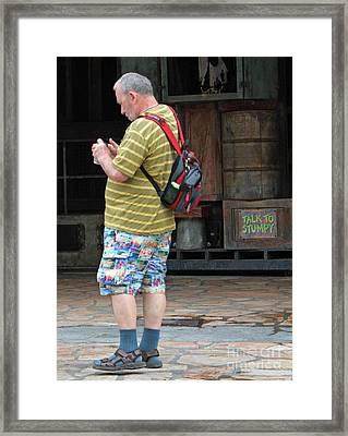 Mix And Match Tourist Framed Print by Joe Jake Pratt