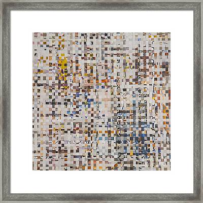 Framed Print featuring the mixed media Mix by Jan Bickerton