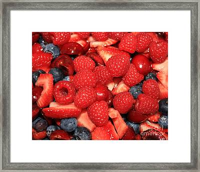 Mixed Berries Framed Print by Carol Groenen