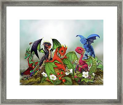 Mixed Berries Dragons Framed Print