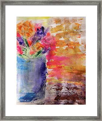 Mixed Bouquet Framed Print by Lisa McKinney