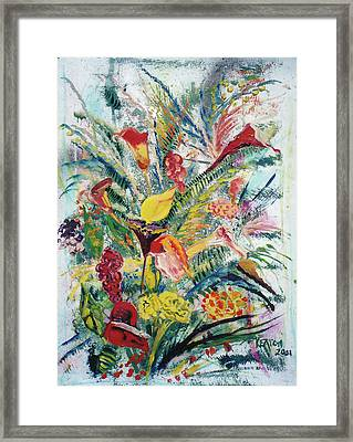 Mixed Bouquet Framed Print by John Keaton