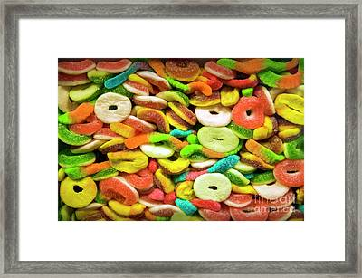 Mixed Colorful Fruit Candy Framed Print by David Zanzinger