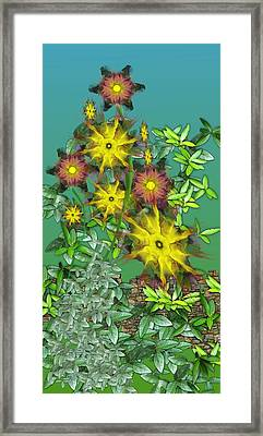 Mixed Flowers Framed Print