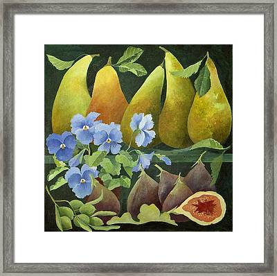 Mixed Fruit Framed Print by Jennifer Abbot