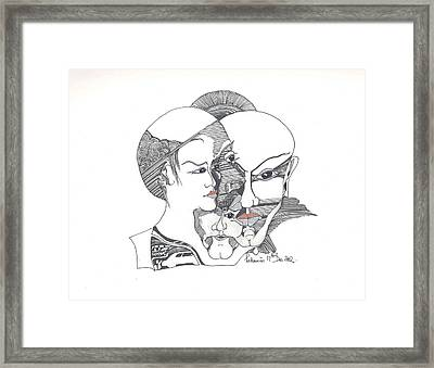 Mixed Identities Framed Print by Padamvir Singh