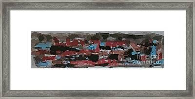 Mixed Media Abstraction Framed Print by John Malone