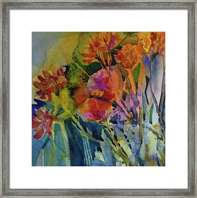 Mixed Media Flowers Framed Print