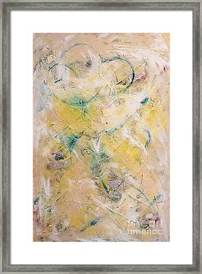 Mixed-media Free Fall Framed Print