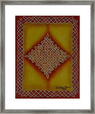 Mixed Media Kolam Four Framed Print by Sandhya Manne