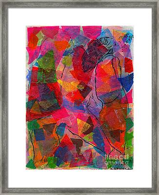 Mixed Media Man Framed Print