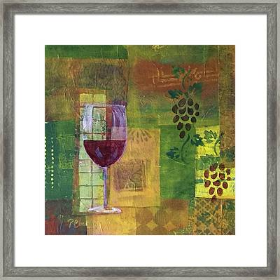 Mixed Media Painting Wine Framed Print