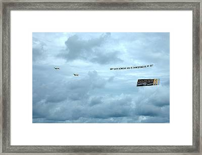 Mixed Message - South Beach Miami Framed Print