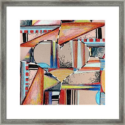 Mixed Messages Framed Print