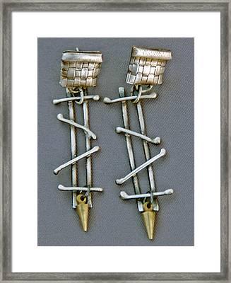 Mixed Metal Earrings Framed Print by Mirinda Kossoff
