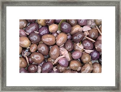 Mixed Olives Framed Print by Neil Overy