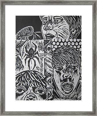Mixed Print 2 Framed Print by Susan Riha Parsley