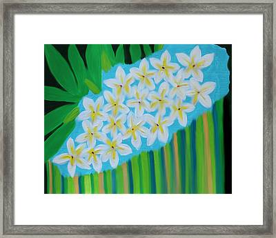 Mixed Up Plumaria Framed Print