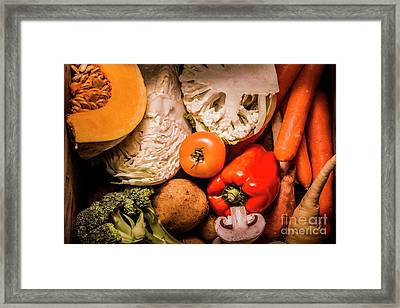 Mixed Vegetable Produce Pack Framed Print by Jorgo Photography - Wall Art Gallery