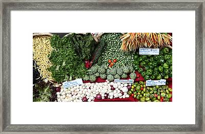 Mixed Vegetables - 5d17086 Framed Print by Wingsdomain Art and Photography