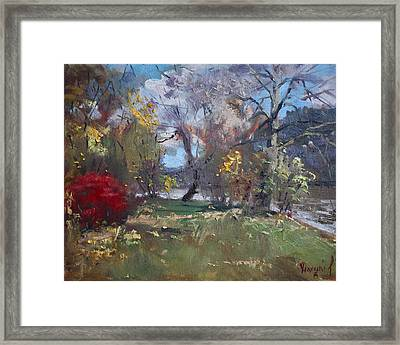 Mixed Weather In A Fall Afternoon Framed Print