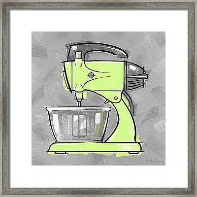 Mixer Lime Framed Print by Larry Hunter