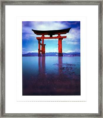 Miyajima Island Torii Framed Print by Luca Baldassari