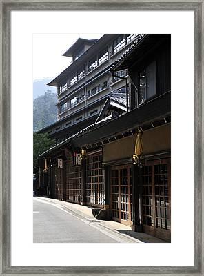 Miyajima Street Scene Framed Print