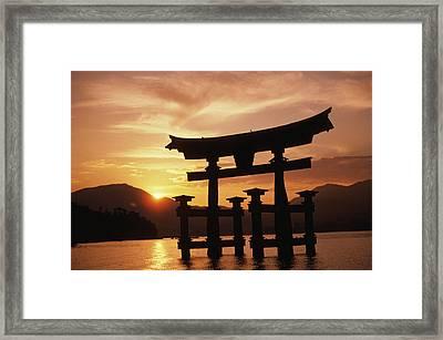 Miyajima Torii Framed Print by Rita Ariyoshi - Printscapes