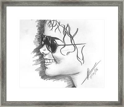 MJ Framed Print by Collin A Clarke