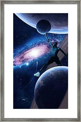 Mj In The Space Framed Print