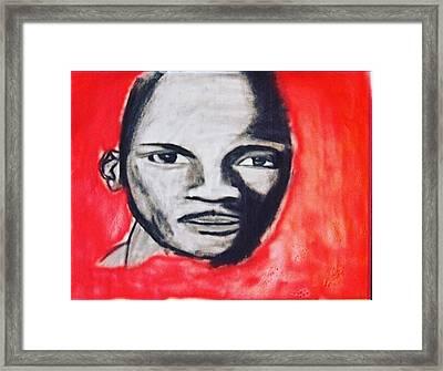 MJ Framed Print by James Mcclue