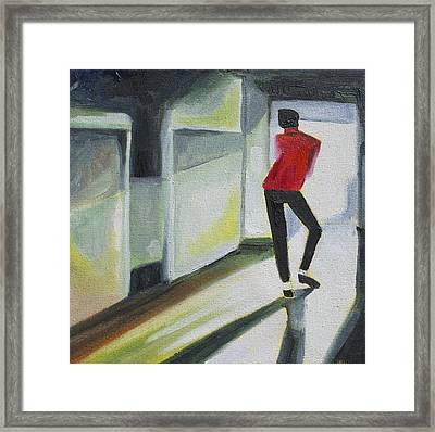 Mj One Of Five Number Three Framed Print